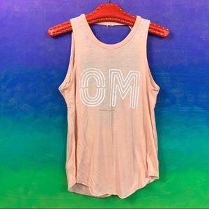 spiritual gangster • peachy pink om yoga tank